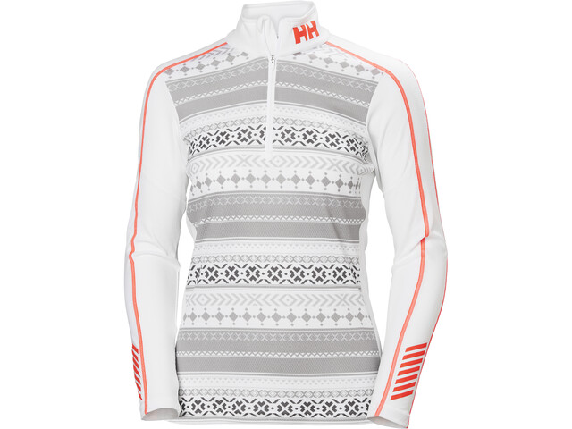 Helly Hansen Lifa Active Graphic T-shirt avec demi-zip Femme, white